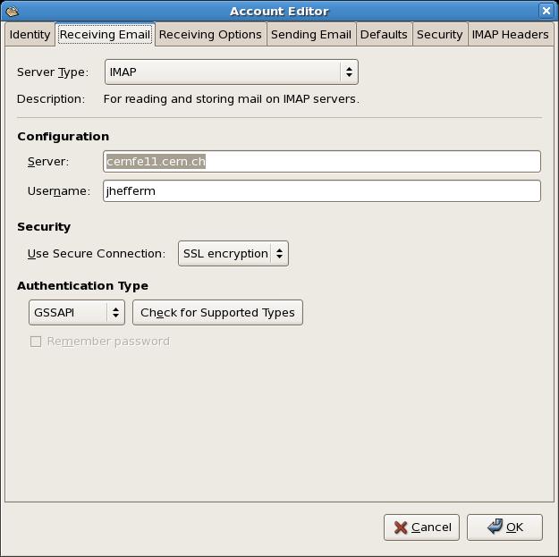 ConfigureYourEmailClientForKerberosAuthentication < AFSService < TWiki