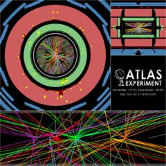 A high pileup event at ATLAS