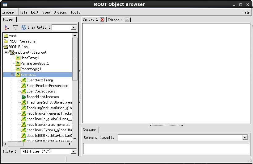 a root browser window