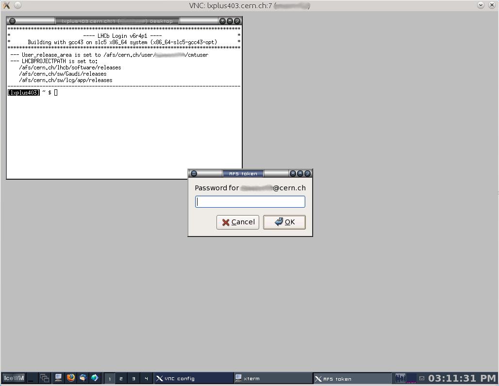 RemoteLxplusConsoleHowTo < LHCb < TWiki