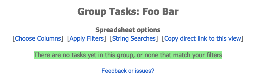Default view for new group