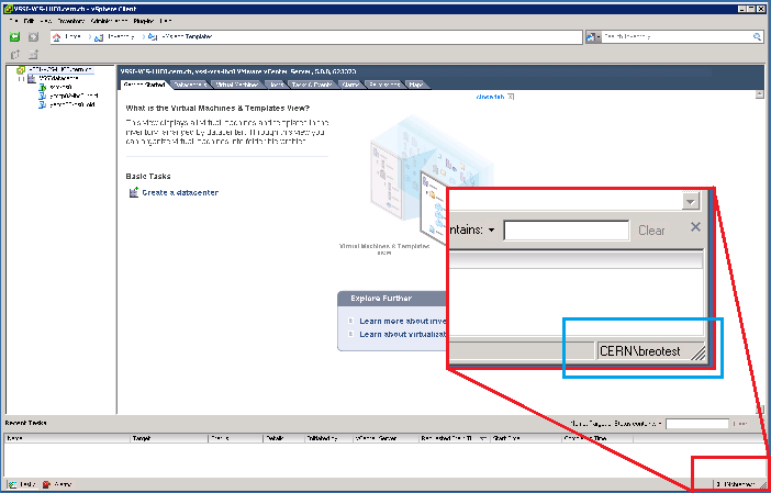 vSphere Client: see username