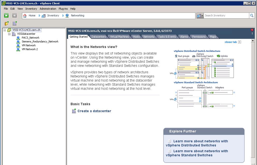 vSphere Client:  Networking