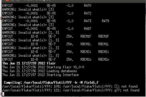 error compiling with fff