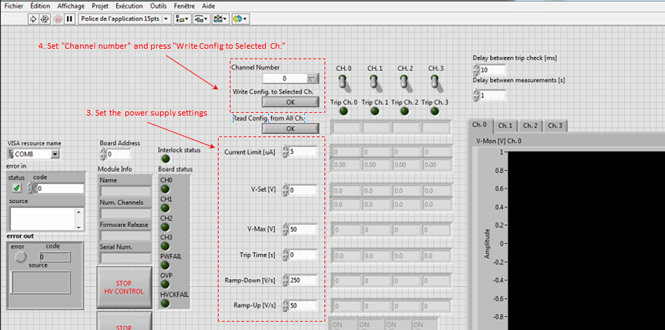 HV Power supply MultiChannel Control Software2 front panel.png